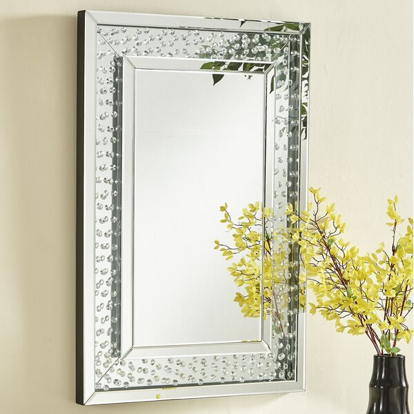 Wheless Contemporary Crystal Accent Mirror by Latitude Run