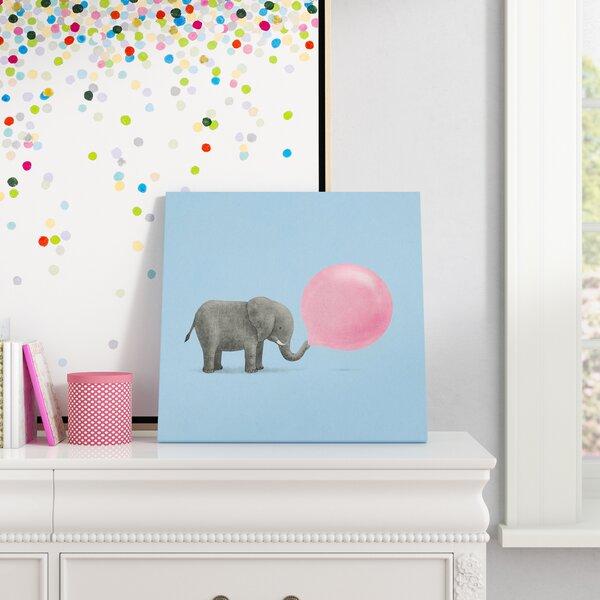 Jumbo Bubble Gum Blue by Terry Fan Canvas Art by Viv + Rae
