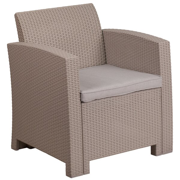 Stockwell Patio Chair with Cushion by Breakwater Bay