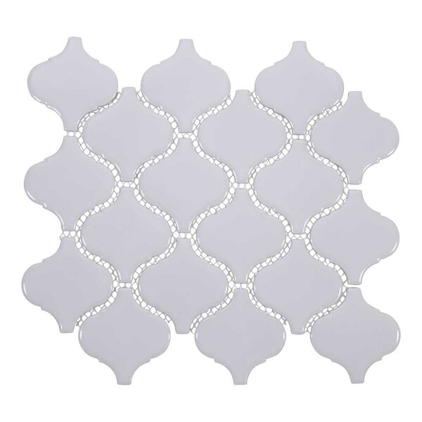 Arabesque 3 x 3 Porcelain Mosaic Tile in White by Giorbello