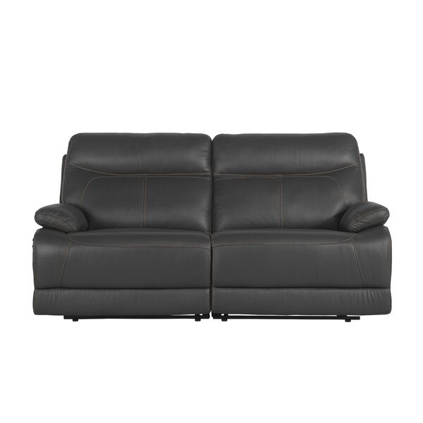 Roesch Leather Reclining Loveseat by Red Barrel Studio