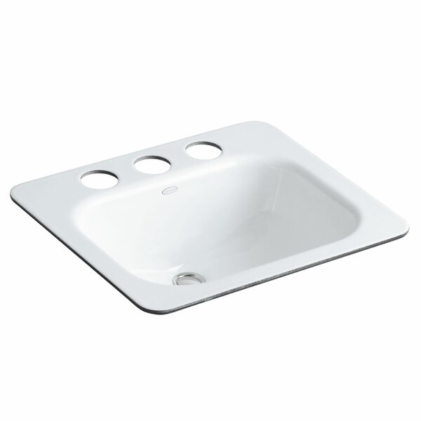 Tahoe Metal Rectangular Undermount Bathroom Sink with Overflow by Kohler