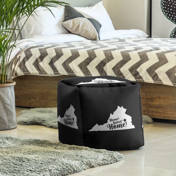 Home Sweet Richmond Cube Ottoman by East Urban Home East Urban Home
