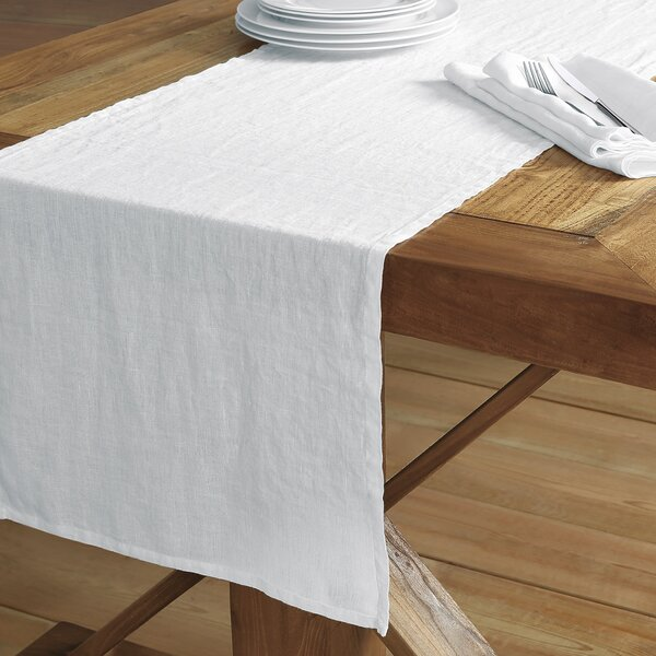Catuzzi Washed Belgian Linen Table Runner by Mint Pantry