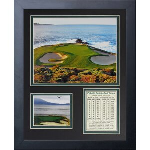 'Pebble Beach Hole #7' Framed Memorabilia by Red Barrel Studio
