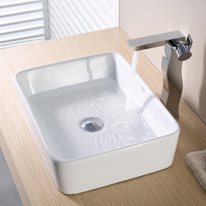 Bathroom Sinks Wayfair kraus ceramic rectangular vessel bathroom sink & reviews | wayfair