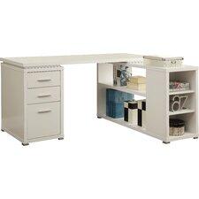 carvell down 3 drawer lshape computer desk - Modern Computer Desk