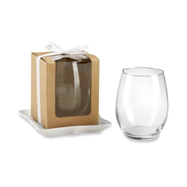 Chyna Stemless Box 15 oz. All Purpose Glass (Set of 12) by Charlton Home