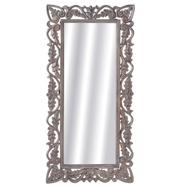 Wells Carved Frame Full Length Mirror by Ophelia & Co.