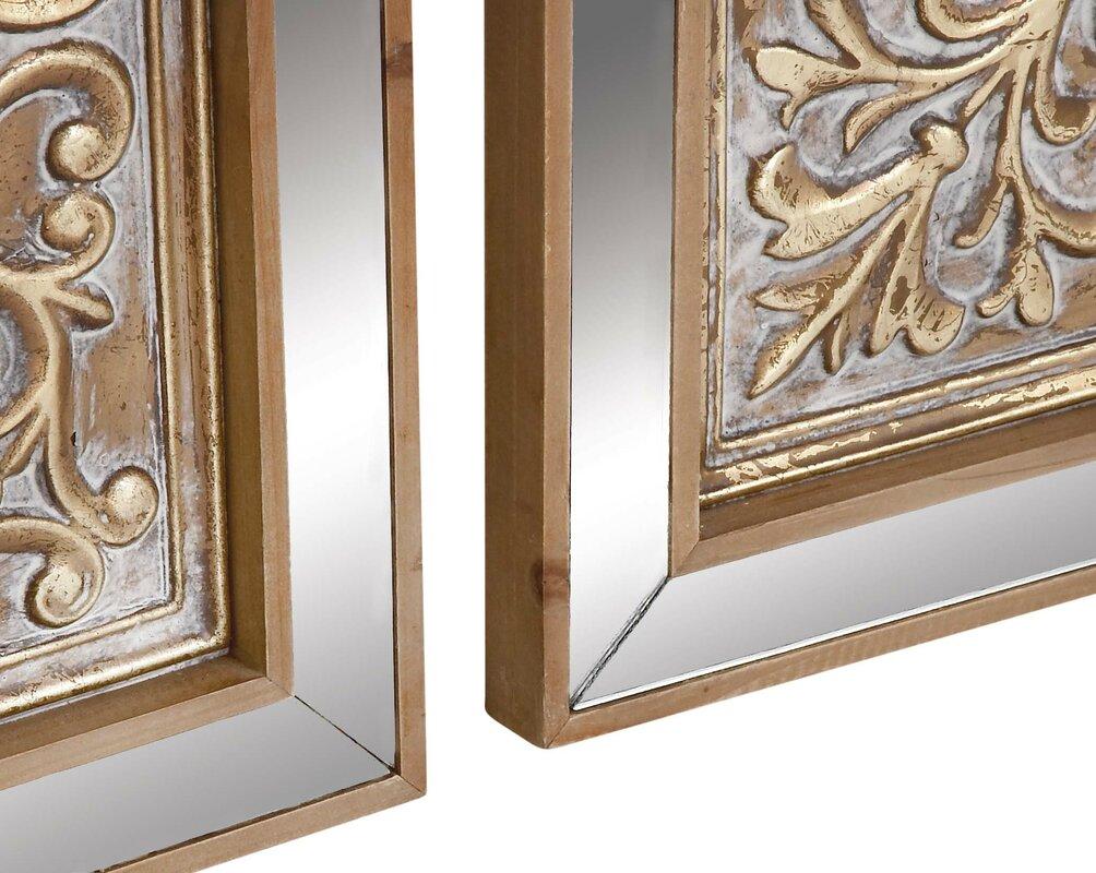 Cole grey 3 piece metal mirror plaque wall dcor set reviews 3 piece metal mirror plaque wall dcor set amipublicfo Gallery
