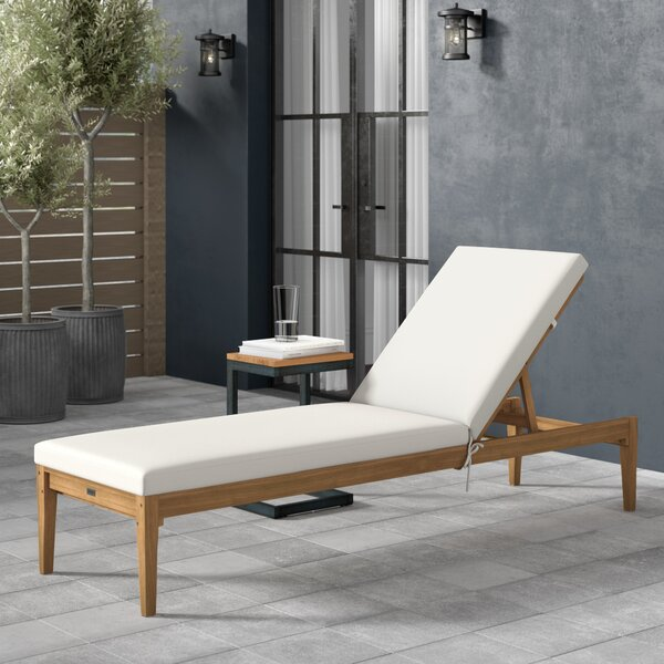 Centerview Reclining Chaise Lounge with Cushion by Greyleigh Greyleigh