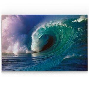 'Waimea Bay Wave' Oil Painting Print on Wrapped Canvas by Latitude Run