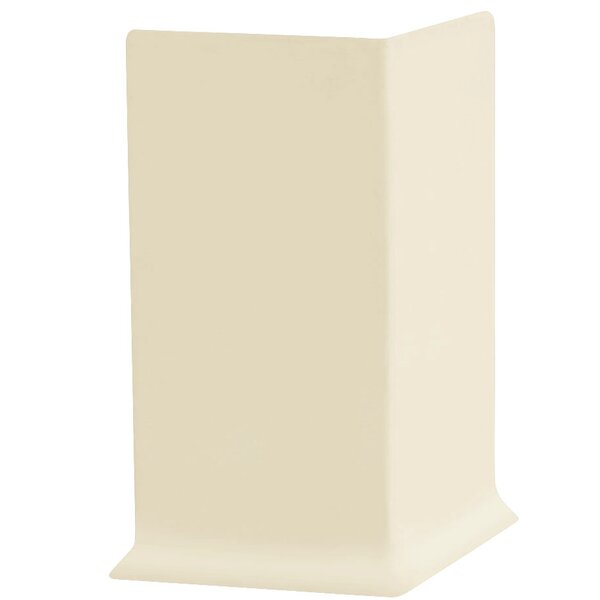 2.25 x 4 x 2.25 Cove Molding in Almond (Set of 25) by ROPPE