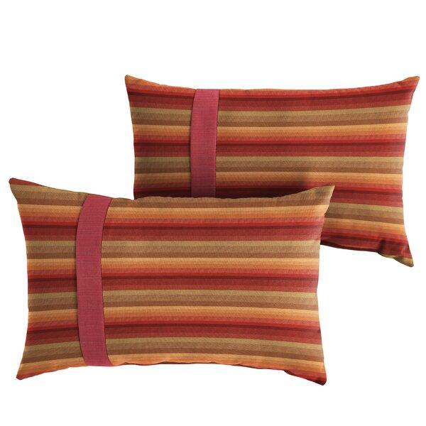 Vanhook Indoor/Outdoor Lumbar Pillow (Set of 2) by Red Barrel Studio