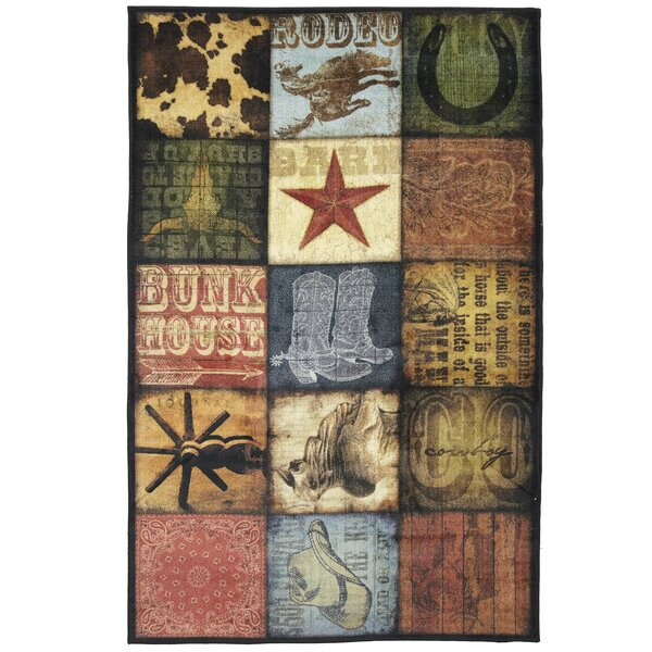 Weinmann Cowboy Patches Brown Area Rug by Millwood Pines