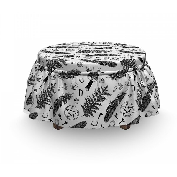 Element Composition Ottoman Slipcover (Set Of 2) By East Urban Home