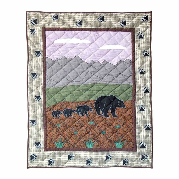 Bear Country Crib Quilt by Patch Magic