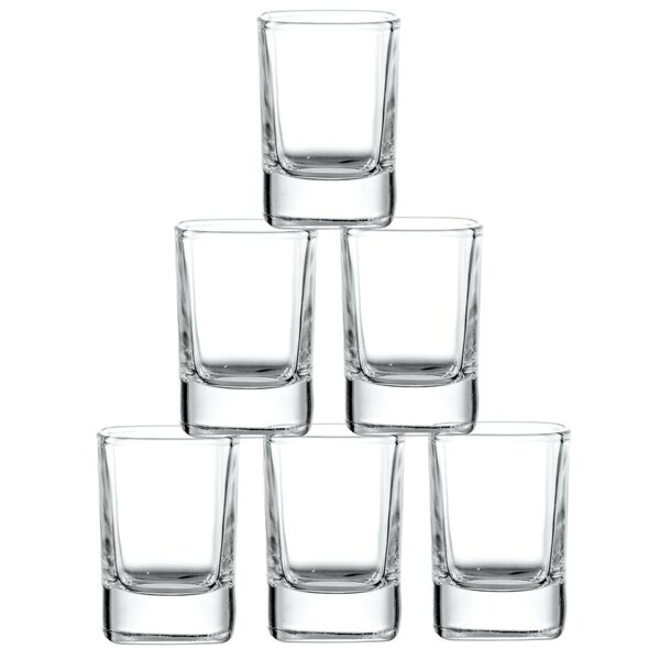 City Heavy Base Glass 2 oz. Shooter (Set of 6) by JoyJolt