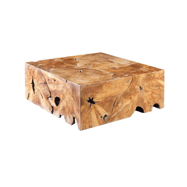 Slice Solid Wood Block Coffee Table by Phillips Collection Phillips Collection