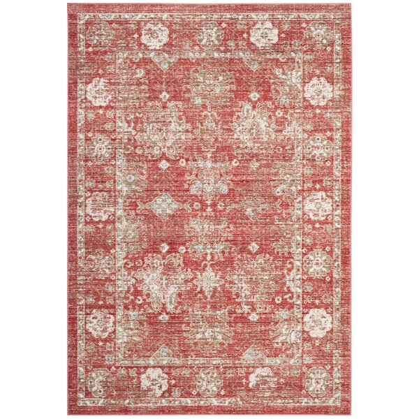 Chauncey Red Area Rug by Bungalow Rose