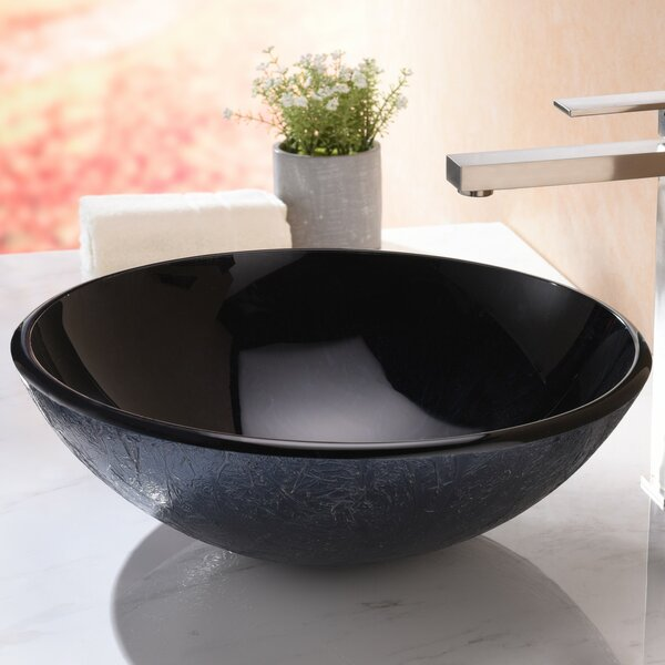 Arc Glass Circular Vessel Bathroom Sink by ANZZI