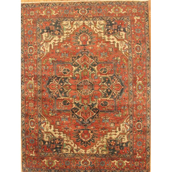 Serapi Hand-Knotted Rust Area Rug by Pasargad