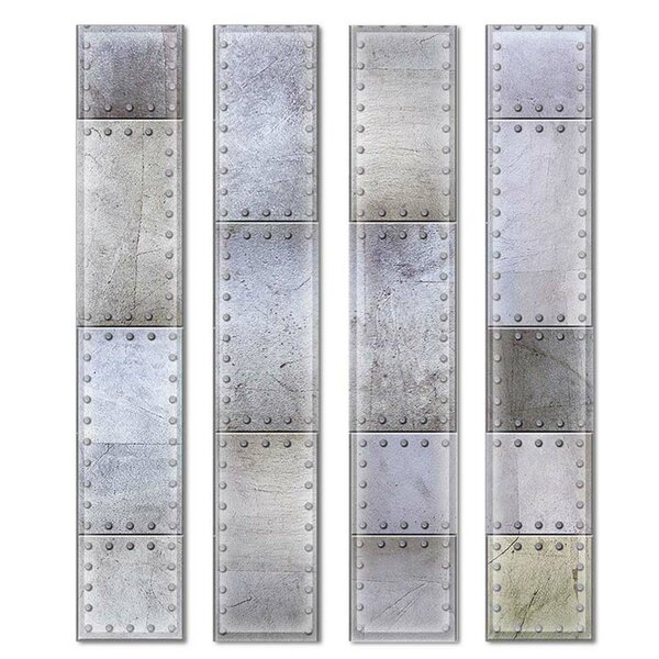 Custom 3 x 12 Beveled Glass Subway Tile in Gray/Green by Upscale Designs by EMA