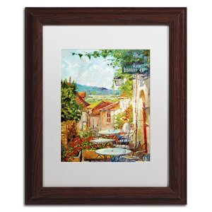 Provence Cafe Morning by David Lloyd Glover Matted Framed Painting Print by Trademark Fine Art