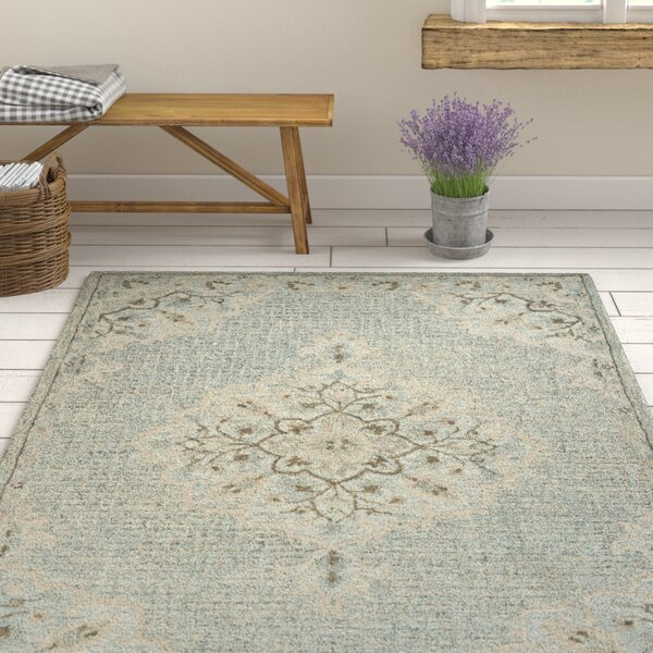 Weehawken Hand-Tufted Blue Area Rug by Ophelia & Co.