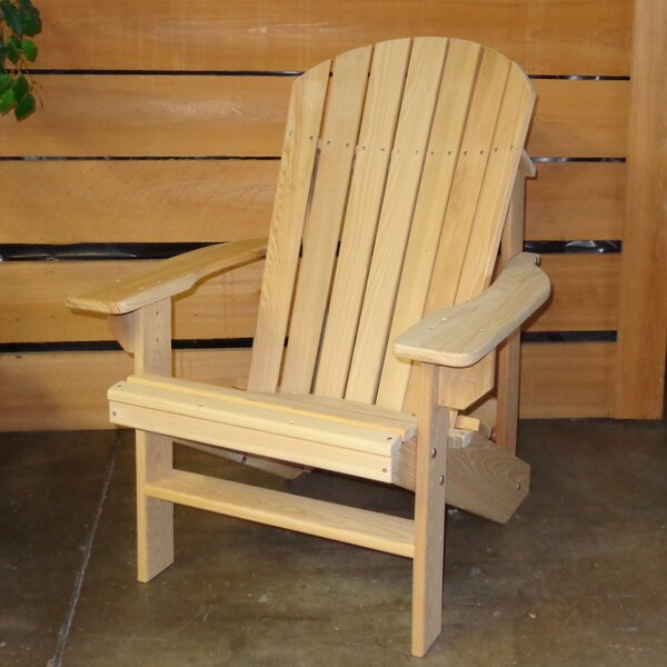 Solid Wood Adirondack Chair by Hershy Way Hershy Way