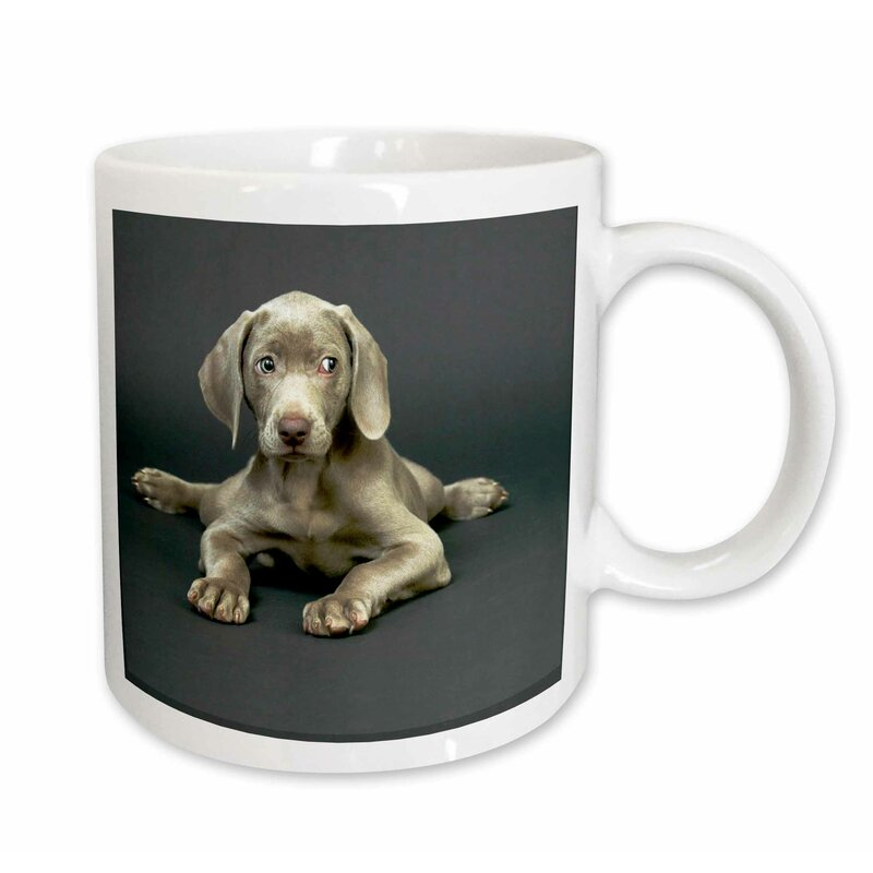 "CA ceramic cup mug /""I love/"" Weimaraner"
