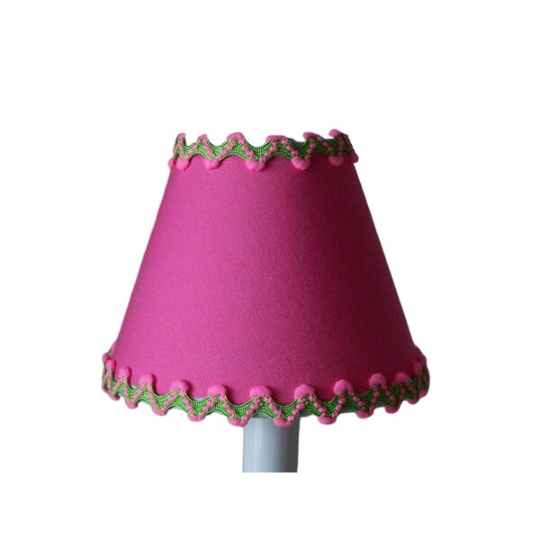 Flamingo Paradise 7 H Fabric Empire Lamp shade ( Screw on ) in Pinks