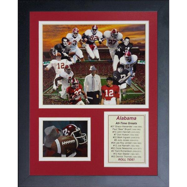 Alabama Crimson Tide Greats Framed Memorabilia by Legends Never Die