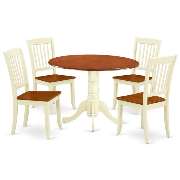 Laguardia 5 Piece Drop Leaf Solid Wood Dining Set by August Grove August Grove