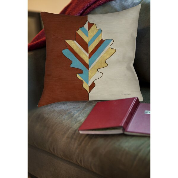 Apache Leaf 4 Printed Throw Pillow by Manual Woodworkers & Weavers
