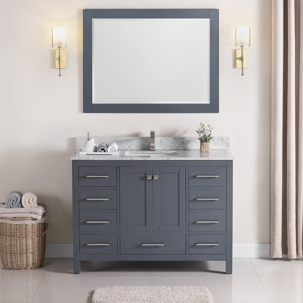Exquisite Home 48 Single Bathroom Vanity Set with Mirror