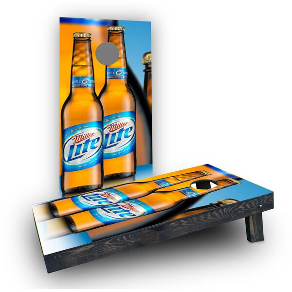 Miller Light Cornhole Boards (Set of 2) by Custom Cornhole Boards