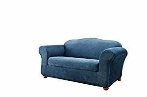 Stretch Stripe Box Cushion Sofa Slipcover