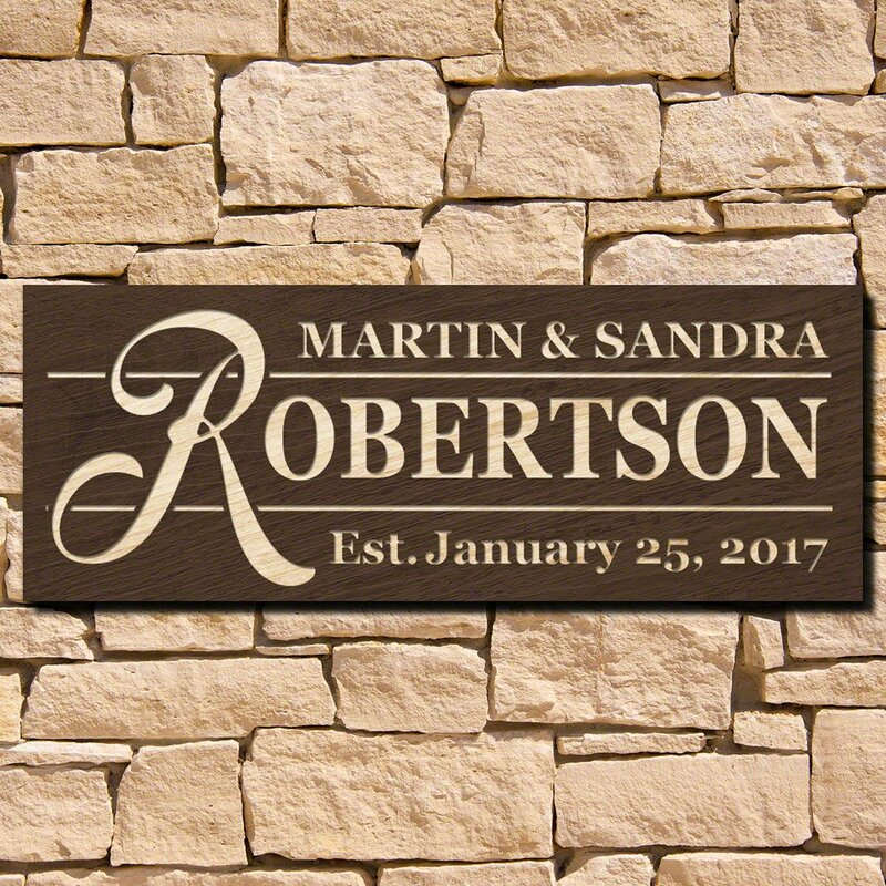 Winston Porter Custom Wood Sign Wall Décor | Wayfair