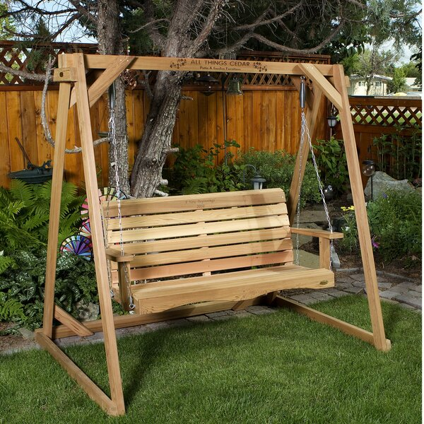 Ardoin Porch Swing with Stand by Union Rustic