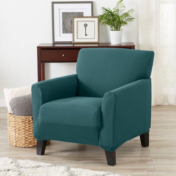 Super Soft Jersey Knit Box Cushion Armchair Slipcover By Winston Porter Winston Porter