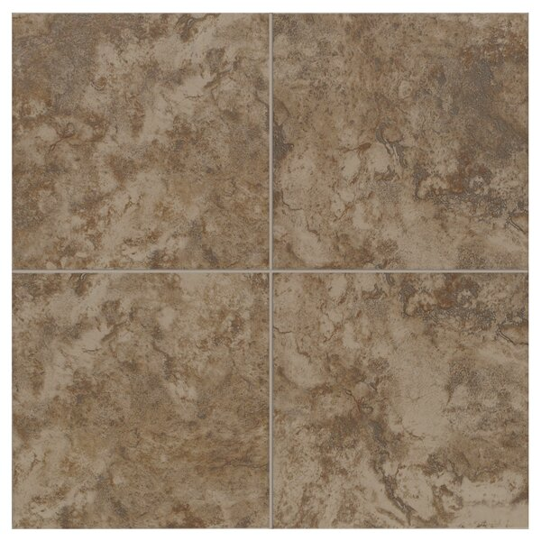 Pavin Stone 6 x 6 Ceramic Field Tile in Brown Suede by Mohawk Flooring