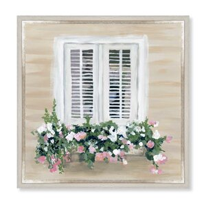 'Flowers in My Window' Framed Painting Print on Canvas by Ophelia & Co.