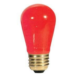 11W Transparent Red String Replacement Light Bulb (Set of 28) by Bulbrite Industries