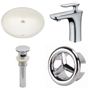 Searching for CUPC Ceramic Oval Undermount Bathroom Sink with Faucet and Overflow ByAmerican Imaginations