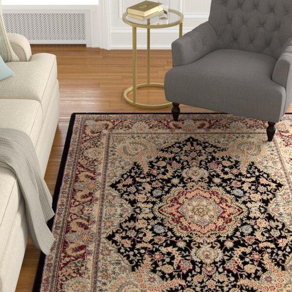 Bryony Hand Woven Wool Black/Brown Indoor Area Rug by Astoria Grand