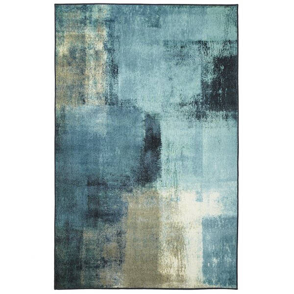 Hallberg Blurred Gray Area Rug by Ivy Bronx