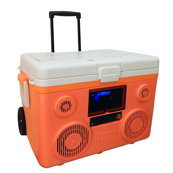 40 Qt. Koolmax Bluetooth PA System Wheeled Cooler by SONDPEX