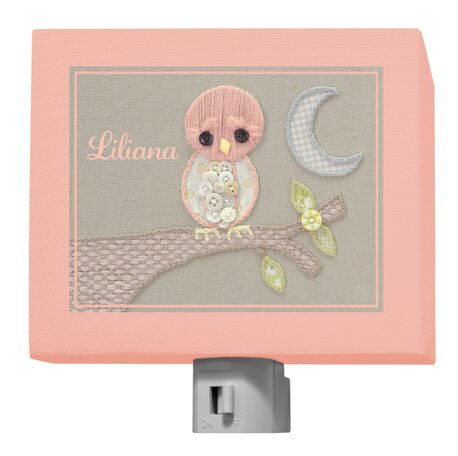 Vintage Baby Owl by Kristen White Personalized Night Light by Oopsy Daisy