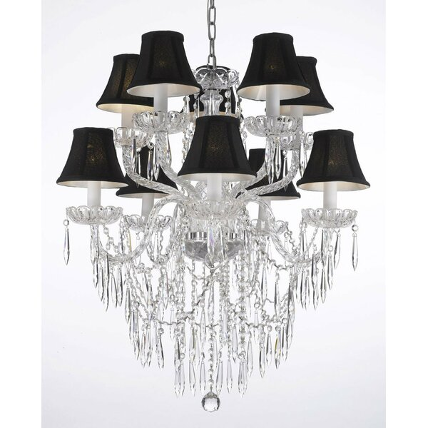 Keough 10 - Light Shaded Tiered Chandelier by House of Hampton House of Hampton
